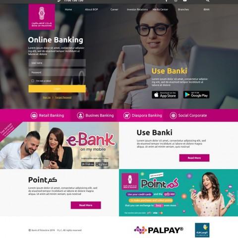 website of bank