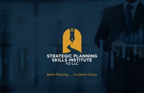 شعار  وهوية معهد التخطيط الاستراتيجي