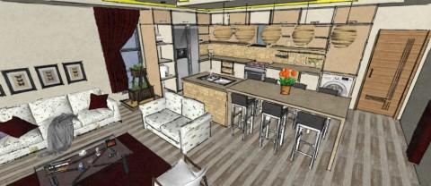 تصميم شقة سكنية