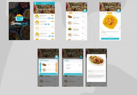 تطبيق الطلب من مطاعم متعددة ( شبيه اطلب )