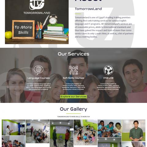 TOMORROLAND EDUCATIONAL WEBSITE
