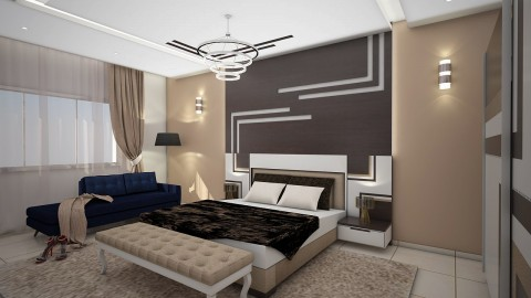 تصميم داخلي لغرفة نوم رئيسية
