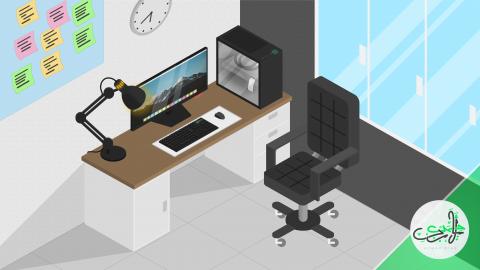 من لوحة بيضاء إلى مكتب كمبيوتر