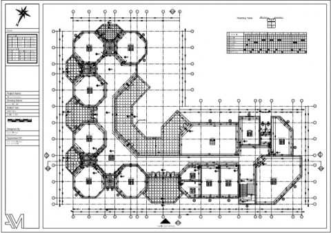 مخطط تنفيذي لمبنى روضة