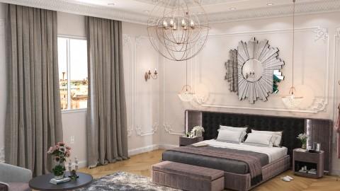 تصميم داخلي لغرفة نوم رئيسية بالسعودية