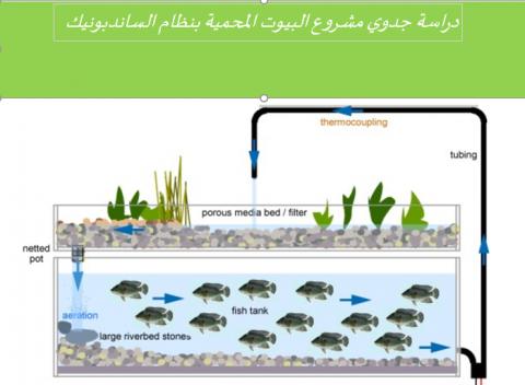 دراسة جدوى لمزرعة مائية بنظام الساند بونيك