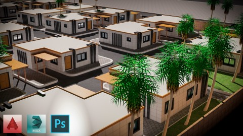 تخطيط مجموعة سكنية في السعودية