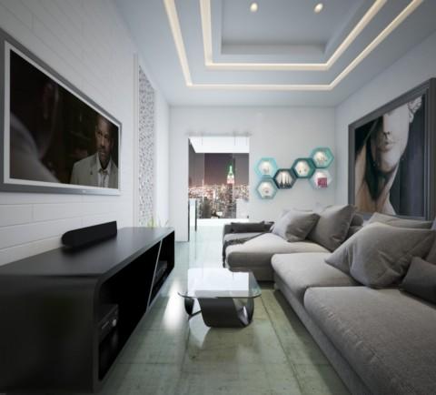 تصميم 3d  لشقة سكنية