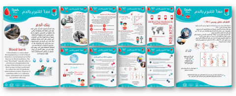تصاميم كتيب لتفعيل اليوم العالمي للتبرع بالدم