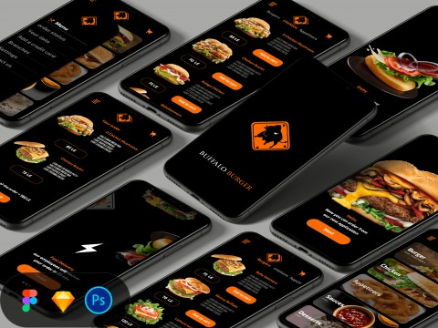 Buffalo Burger app ui design