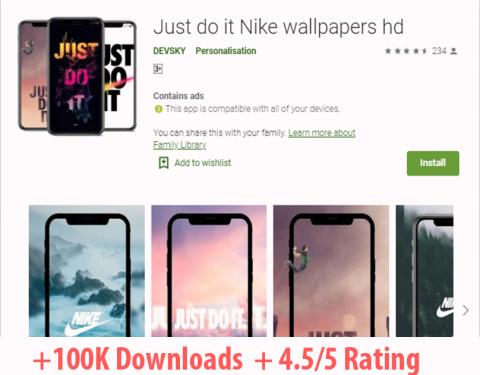 تطبيقي الذي عرف نجاح في المتجر و تصدر قائمة البحث مع أكثر من 1000.000 الف مستخدم و تقييم 4.5 على 5