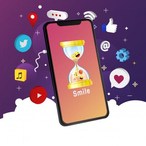 شعار تطبيق smile face