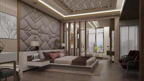 تصميم مودرن لغرفة نوم رئيسيه