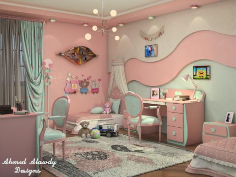 غرفة أطفال مودرن عصرية