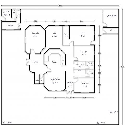 تصميم مخططات معمارية (ترميم مخطط منزل) بالسعودية