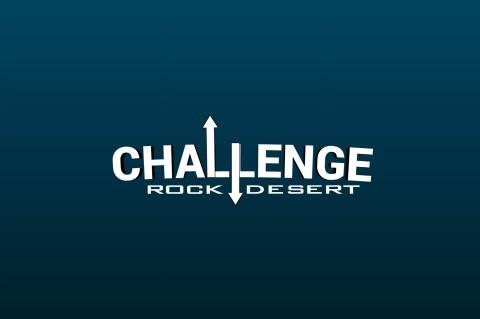 شعار لفعالية (تحدي صخرة الصحراء)