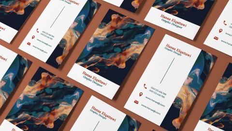تصميم بزنس كارد ( بطاقات الأعمال) ( Business card ) احترافي ابداعي