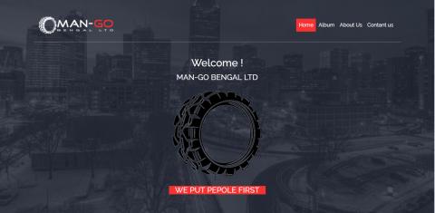 تصميم وتكويد صفحة هبوط لشركة Man GO