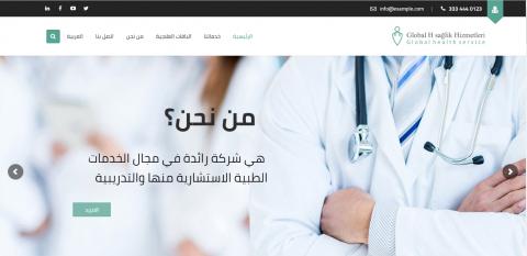 """موقع وردبربس لشركة طبيبة """"Global health services"""""""