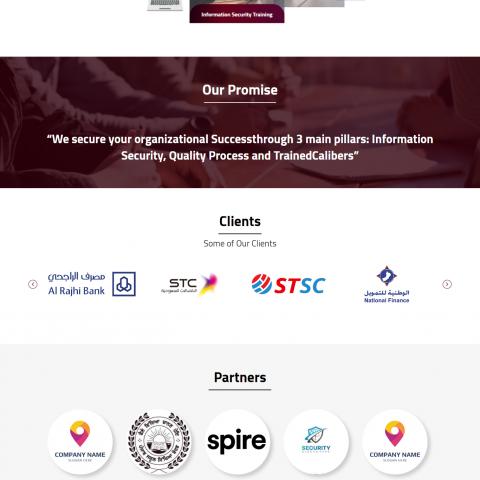 تصميم وتطوير موقع لشركة خاصة بامن المعلومات Securera