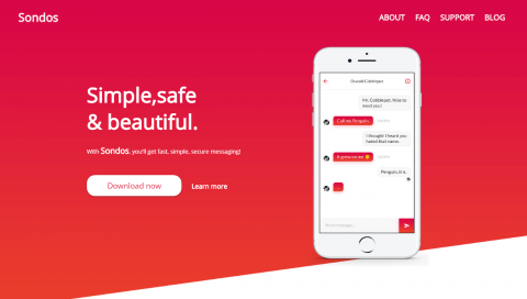 سندس | صفحة هبوط مميزة للتطبيقات