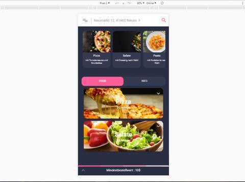 تطبيق لمحلات اطعمة ألمانية