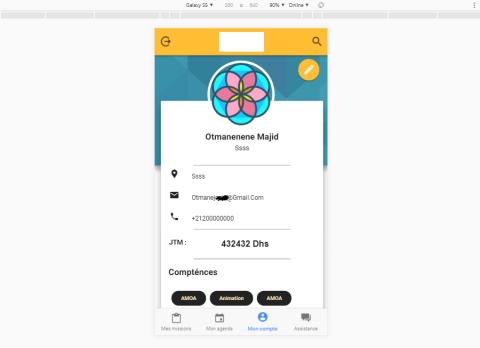 تطبيق للبحت عن عمل اندرويد وايفون باستخدام Ionic