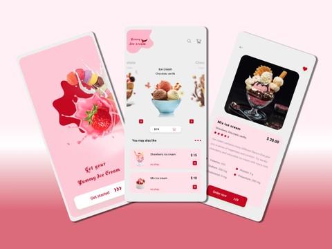 Ice Cream app [UI/UX]