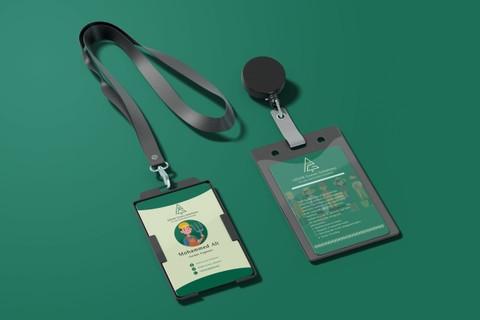 تصميم البطاقة التعريفية ID Card