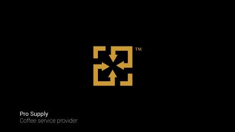 شعار قائم على استغلال الفراغ لشركة توريد مستلزمات الفنادق والكافيهات