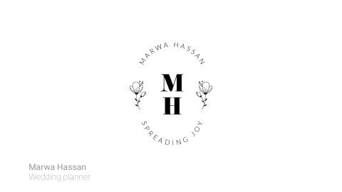 شعار حرفي لمنظم حفلات زفاف