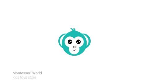 شعار تميمة لعلامة تجارية مختصة بألعاب الأطفال