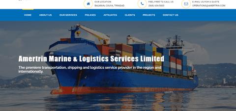 انشاء موقع لشركة نقل بحري امريكية