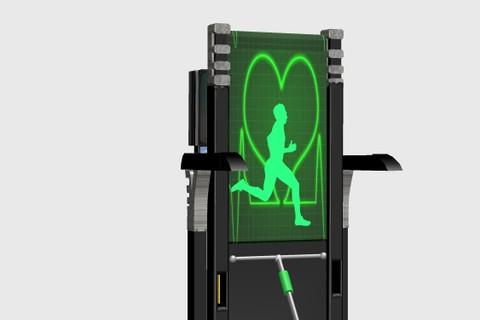 تصميم 3D لجهاز رياضي Treadmill وتحريكه
