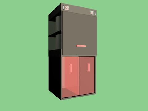 تصميم 3D لجهاز فرز النفايات المنزلية