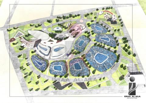 تصميم مجمع لإدارة النفايات الصلبة   Complex design for solid waste management