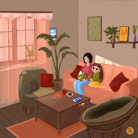 مشهد من قصة اطفال