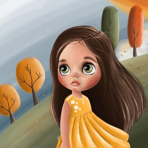 طفلة الخريف