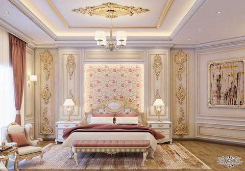تصميم كلاسيك لغرفة نوم بنت في دولة الامارات