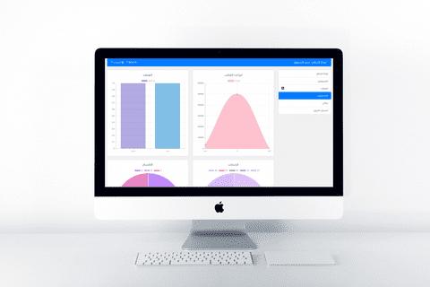 تطبيق ويب - لوحة تحكم لادارة عمليات التسويق