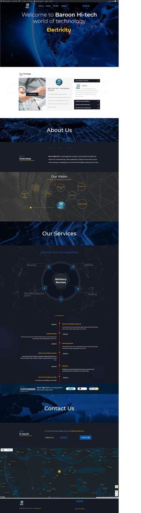موقع لشركة خدمات كهرباء وتلحيم