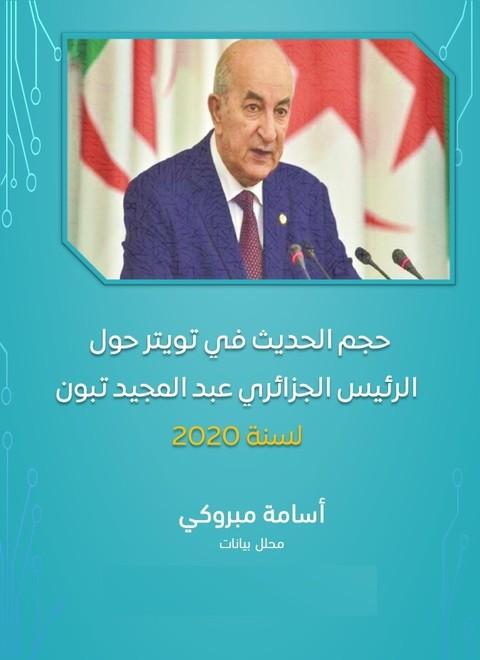 تحليل ورصد حجم الحديث في تويتر عن الرئيس الجزائري عبد المجيد تبون