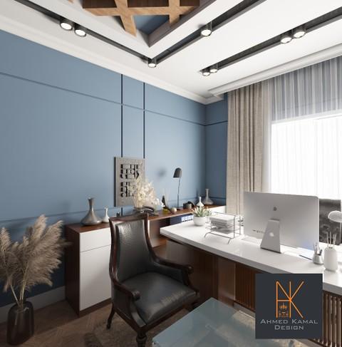 تصميم داخلي لمكتب في مدينة الرياض