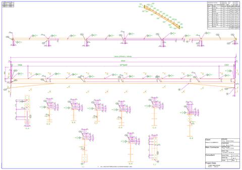 مخططات تنفيذية للمنشآت المعدنية Steel Structure