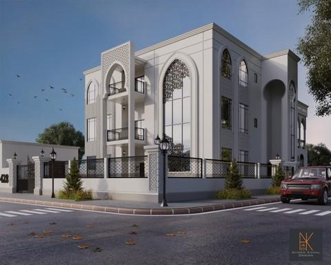 تصميم واجهه فيلا خاصة ذات طابع اسلامي حديث