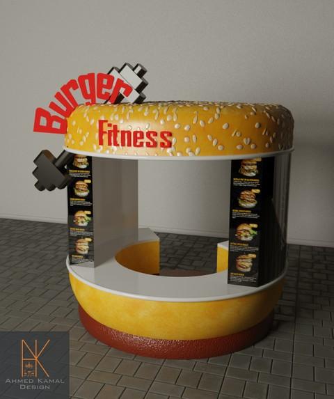 تصميم كشك بيع برجرج Burger Kiosk