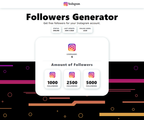 Followers Generator front end
