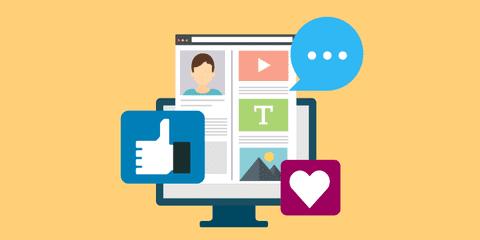 محتوى شبكات تواصل اجتماعية