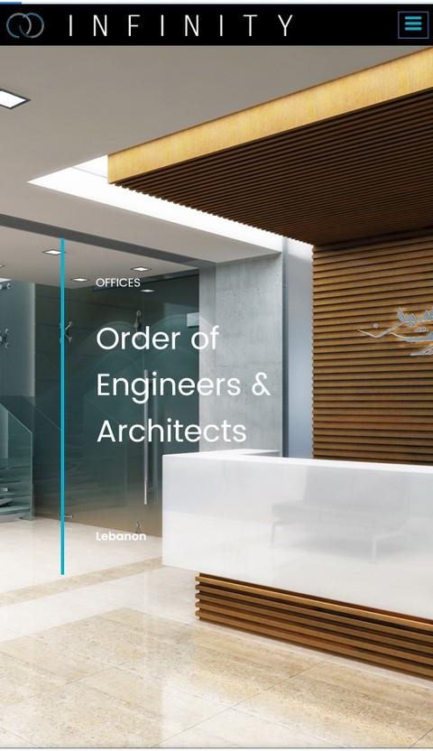 موقع لشركة انفنتي المعمارية