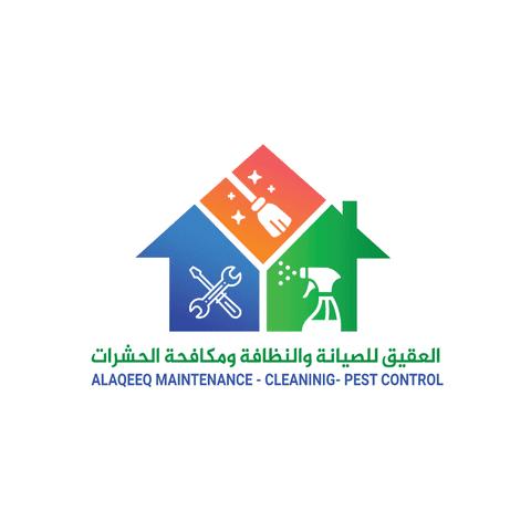 تصميمات سوشيال ميديا لشركة العقيق للصيانة والنظافة ومكافحة الحشرات
